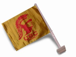 USC TROJANS CAR FLAGS 6 COUNT