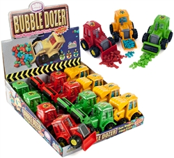 BUBBLE DOZER BUBBLEGUM FILLED BULLDOZERS 12 COUNT