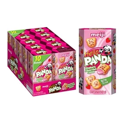 Hello Panda Strawberry Filled Cookies 2.1 Oz 10 Count