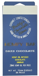 Hempy Bar Hemp Oil Infused Chocolate Bar -  Dark Chocolate