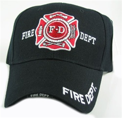FIRE DEPARTMENT EMBROIDERED BASEBALL STYLE CAP