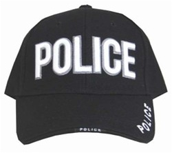POLICE EMBROIDERED BASEBALL STYLE CAP