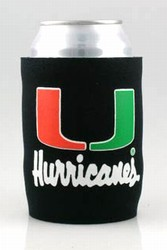 MIAMI HURRICANES KOOZIE CAN COOLERS 6 COUNT