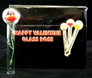 happy valentine glass rose 24 count - Happy Valentine Glass Rose Pipe