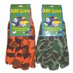 CAMOUFLAGE KNIT GLOVES 6 COUNT