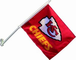 KANSAS CITY CHIEFS CAR FLAGS 6 COUNT