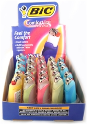 COMFORT LITE MINI BIC LIGHTERS & CASE PASTELS 25 COUNT