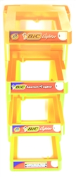 Bic Lighters 4 Tier Display Rack