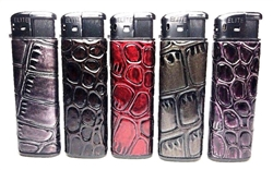 Exotic Gator Leather Feel Electronic Lighters 50 Count
