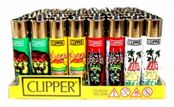RASTA CLIPPER ISOBUTANE LIGHTERS 48 COUNT
