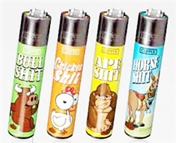 Animals Clipper Isobutane Lighters 48 Count