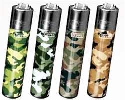 Camo Clipper Isobutane Lighters 48 Count