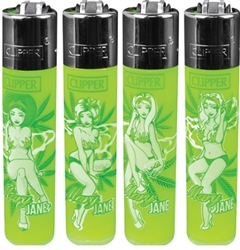 Clipper Mary Jane Pin Up Girls Lighters 48 Count