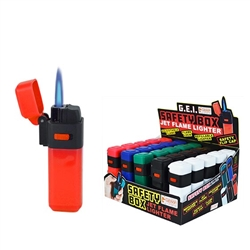 Flip Top Wind Resistant Jet Flame Torch Lighters 30 Count