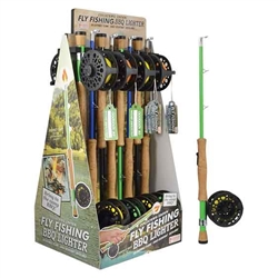 "Fly Fishing pole 14.5"" Barbecue Lighters 16 Count"
