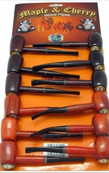 Cherry Wood Pipes 12 Count