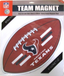 HOUSTON TEXANS CAR MAGNETS 6 COUNT