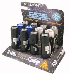 9 LED FLASHLIGHTS 12 COUNT