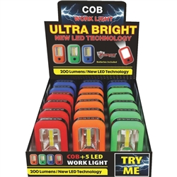 COB Led Work Light Flashlight 18 Count