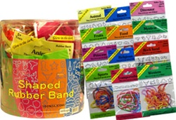 SHAPED SILICONE RUBBER BANDS 12 PACK 48 COUNT