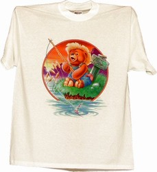 Fishing Teady Bear T-shirt