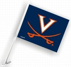VIRGINIA CAVALIERS CAR FLAGS 6 COUNT