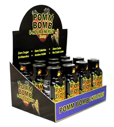 POMM BOMB 6 HOUR ENERGY DRINK BERRY FLAVOR 12 COUNT