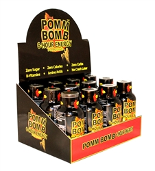 POMM BOMB 6 HOUR ENERGY DRINK POMEGRANATE FLAVOR 12 COUNT
