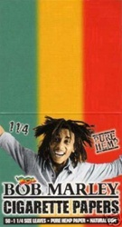 "BOB MARLEY 1 1/4"" HEMP ROLLING PAPERS 25 COUNT"
