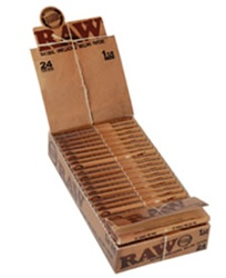 "RAW CLASSIC 1 1/4"" ROLLING PAPERS 24 COUNT"