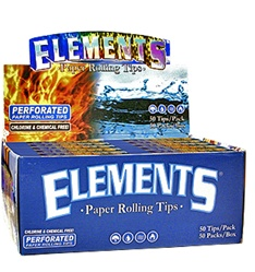 ELEMENTS PERFORATED ROLLING PAPER TIPS 50 COUNT