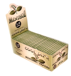 COOL JAY'S MENTHOL FLAVORED 1.5 SIZE ROLLING PAPERS 25 COUNT