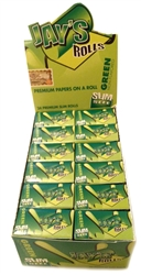 JUICY JAY'S GREEN UNFLAVORED PREMIUM ROLLING PAPERS ON A ROLL 24 COUNT