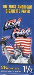 USA FLAG CIGARETTE ROLLING PAPERS 25 COUNT