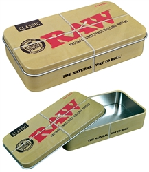 Raw Metal Tin Storage Box