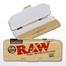 Raw Metal Tin Storage Box for Rolling Papers
