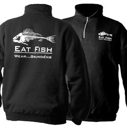Grundens Eat Fish Mock Sweatshirt