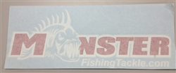 Monster Fishing Tackle Sticker Decals