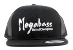Megabass Snapback Brush Logo Hat