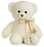Ashford Bear Jr The 14 Inch Plush Cream Teddy Bear By Aurora