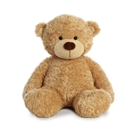 Big Bonny the Fuzzy Tan Teddy Bear by Aurora