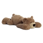 Papa Huggawug the Jumbo Lying Stuffed Brown Bear by Aurora