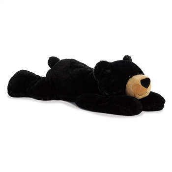 Papa Huggawug the Jumbo Lying Stuffed Black Bear by Aurora