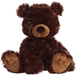 Mookie the Plush Dark Brown Teddy Bear by Aurora