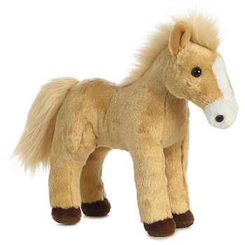 Cheyenne the Standing Tan Horse Stuffed Animal by Aurora