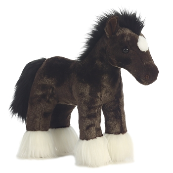 Spirit the Standing Clydesdale Stuffed Animal by Aurora