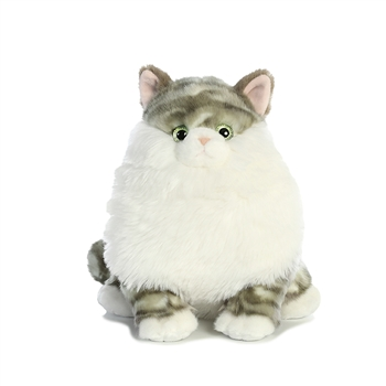 Dumpling the Stuffed Gray Tabby Cat Fat Cats by Aurora