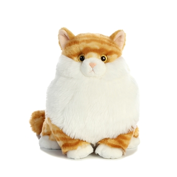 Butterball the Stuffed Orange Tabby Cat Fat Cats by Aurora