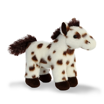 Rodeo the Stuffed Brown-Spotted White Horse with Sound by Aurora