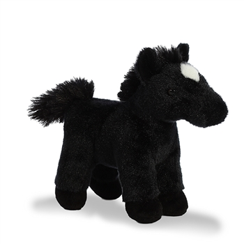 Midnight the Stuffed Black Horse with Sound by Aurora